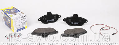 Колодки тормозные (передние) Fiat Scudo, Фиат Скудо , Peugeot Expert 96- (Bendix), (с датчиками) 141122-700