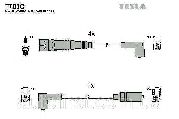 Tesla T703C Высоковольтные провода Audi