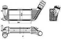Радиатор интеркулера Citroen Jumper/Fiat Scudo/Peugeot Expert 1.6/2.0/2.2D Multijet/HDi 06-, код 30192, NRF
