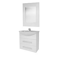 Мини-комплект мебели для ванной комнаты Жемчуг 2-60-2-60 ВанЛанд