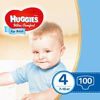 Подгузники Huggies Ultra Comfort для мальчиков 4 (7-16 кг) Mega Box 100 шт