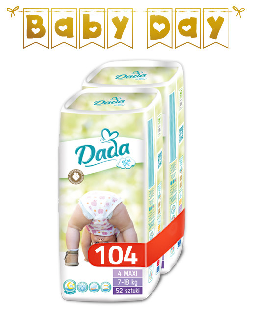 Подгузники Dada Extra Soft Mega Box 4 (7-18 кг) 104 шт., цена 399 ... 204af509ce4