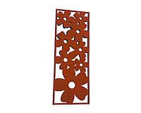 Декоративные панели из металла «Цветы»
