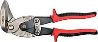 Ножницы по металлу изогнутые левые 225мм, YATO YT-1913