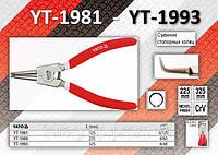 Съёмник внешних стопорных колец загнутый L= 325мм, YATO YT-1993