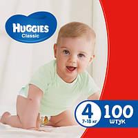 Підгузники дитячі Huggies Classic 4 (7-18 кг) Mega Pack 100 шт