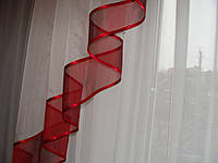 Ламбрекен Ассиметрия 2,5м бордо с бежем, фото 1