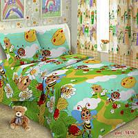 Комплект постельного белья 145х220см Пчелки Поплин