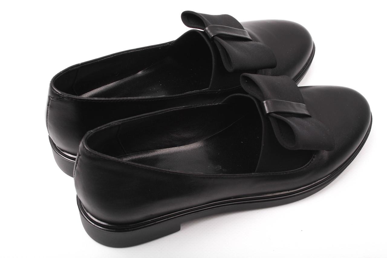 Туфли женские Olli натуральная кожа, цвет черный (каблук, стильные, комфорт)