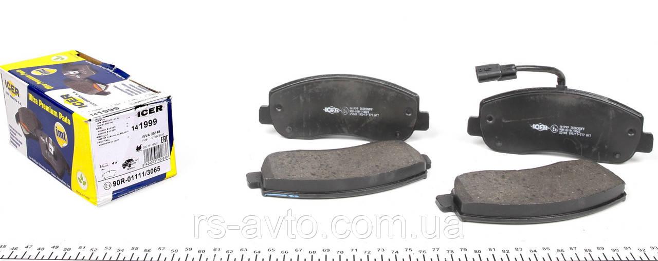 Колодки тормозные (передние) Renault Master, Рено Мастер III, Opel Movano 10- (Brembo), (с датчиком) 141999