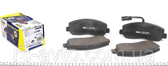 Колодки тормозные (передние) Renault Master, Рено Мастер III, Opel Movano 10- (Brembo), (с датчиком) 141999, фото 2