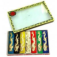 Тушь для каллиграфии набор 7 цветов в коробке