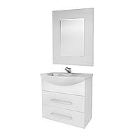 Мини-комплект мебели для ванной комнаты Жемчуг 2-65-2-65 ВанЛанд