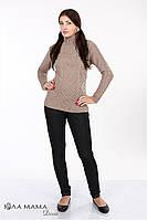 """Теплые брюки для беременных """"Pretty теплые"""" из плотного трикотажа """"под джинс"""" с начесом, фото 1"""