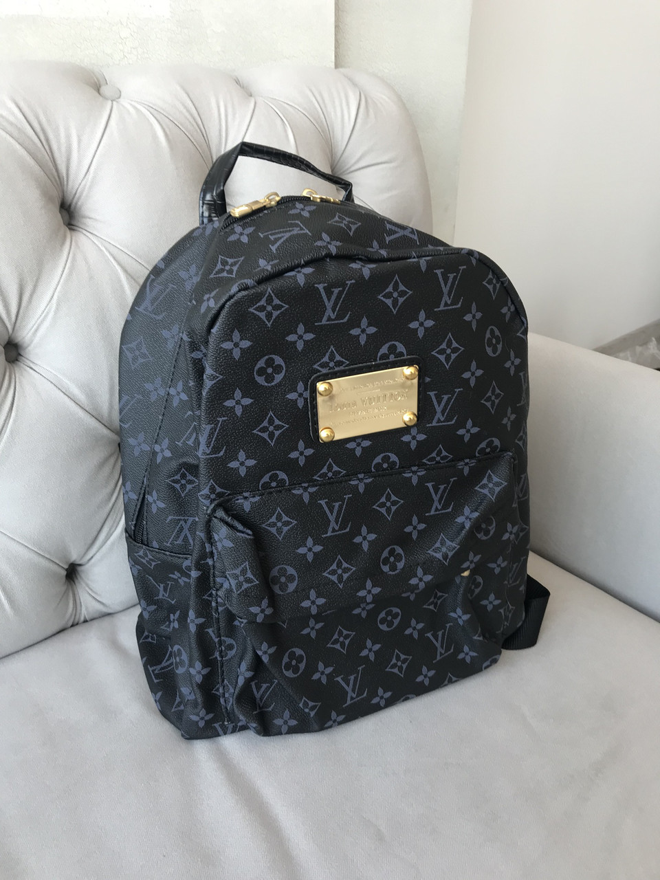 a27ba0e3d9a4 Городской Рюкзак LV Louis Vuitton (реплика Луи Витон) Vintage Black -  Планета здоровья интернет