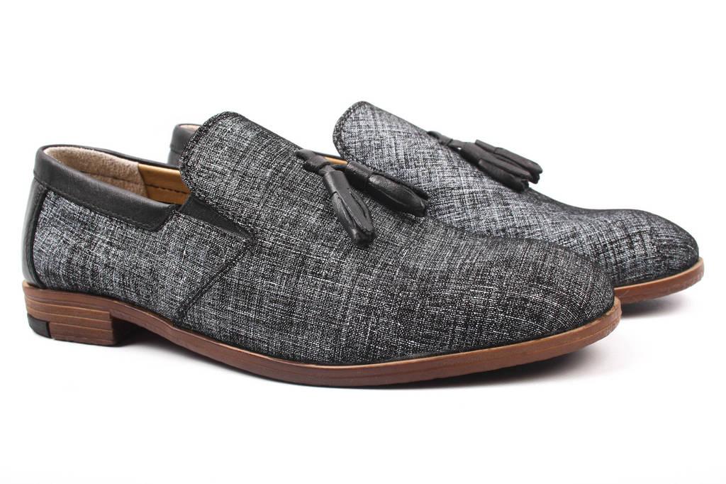 Туфли мужские Ridge натуральная кожа, цвет черный, белый (мокасины, каблук, весна\осень, Турция)
