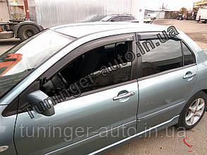 Ветровики, дефлекторы окон Mitsubishi Lancer IX 2003-2009 (Hic)