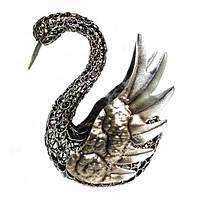 Лебедь металлический