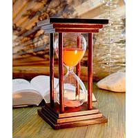 """Песочные часы """"Квадрат"""" 60 минут Розовый песок"""