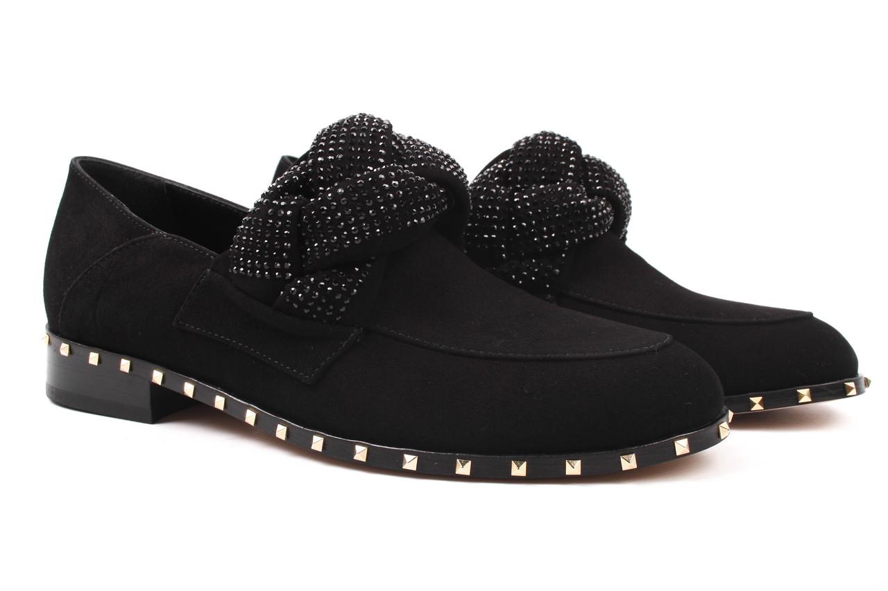 Туфли женские DaCoTa натуральный замш, цвет черный (каблук, стильные, комфорт, Турция)