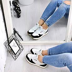 """(ТОЛЬКО 36р) Кроссовки, кеды, мокасины женские черно-белые """"Zebra"""" эко кожа, спортивная, повседневная обувь, фото 3"""
