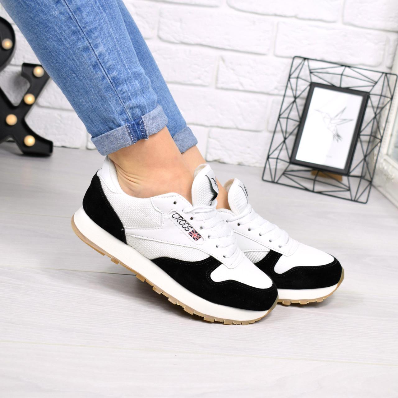 """(ТОЛЬКО 36р) Кроссовки, кеды, мокасины женские черно-белые """"Zebra"""" эко кожа, спортивная, повседневная обувь"""