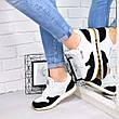 """(ТОЛЬКО 36р) Кроссовки, кеды, мокасины женские черно-белые """"Zebra"""" эко кожа, спортивная, повседневная обувь, фото 2"""