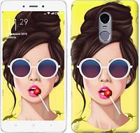 """Чехол на Xiaomi Redmi Note 4 Девушка с чупа-чупсом """"3979c-352-328"""""""