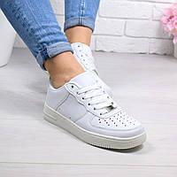 """Кроссовки, кеды, мокасины женские белые """"Nike Air Force"""" эко кожа, спортивная, летняя, повседневная обувь"""