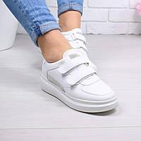 """Кроссовки, кеды, мокасины женские белые """"Farina"""" эко кожа, спортивная, летняя, повседневная обувь"""