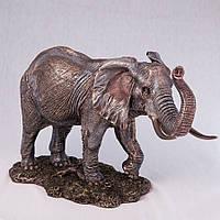 Статуэтка Veronese Слон 36 см 74966A4, символ удачи