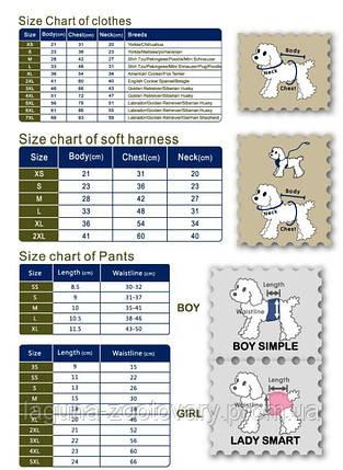 Комбінезон для собак NEW PRETTY PUPPY, лимон, розмір S, M, L, XL, 2XL, фото 2