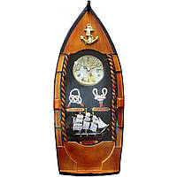 """Ключница с часами """"Лодка"""" (40х15,5х7 см)"""