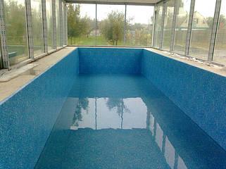 Пайка и укладка пленки ПВХ для бассейнов и прудов.