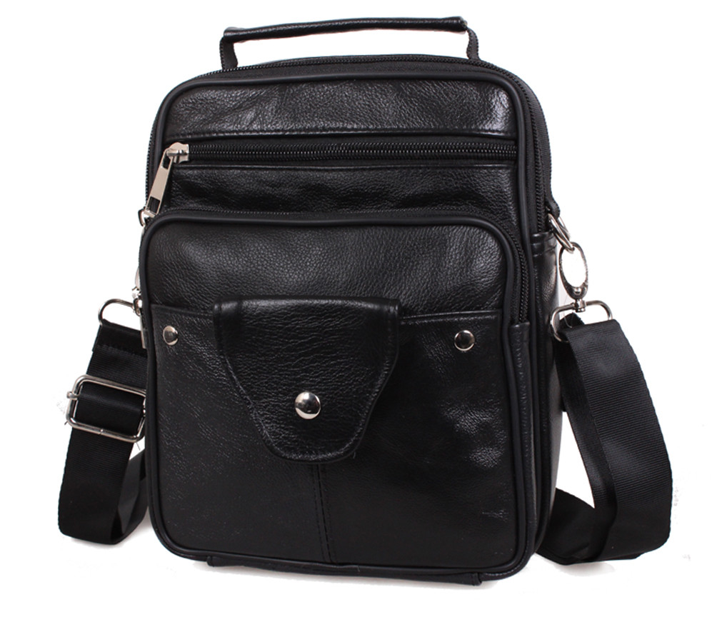 Мужская кожаная сумка Dovhani Back201 Черная