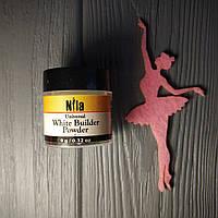 Акриловая пудра Nila white builder розовая 9 грамм