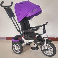 Трехколесный велосипед M 3646A-8 Turbo Trike, резиновые колеса,фиолетовый
