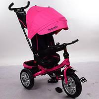 Трехколесный велосипед M 3646A-S11 Turbo Trike, резиновые колеса, розовый