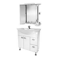 Мини-комплект мебели для ванной комнаты Жемчуг 3-80-3-80 ВанЛанд