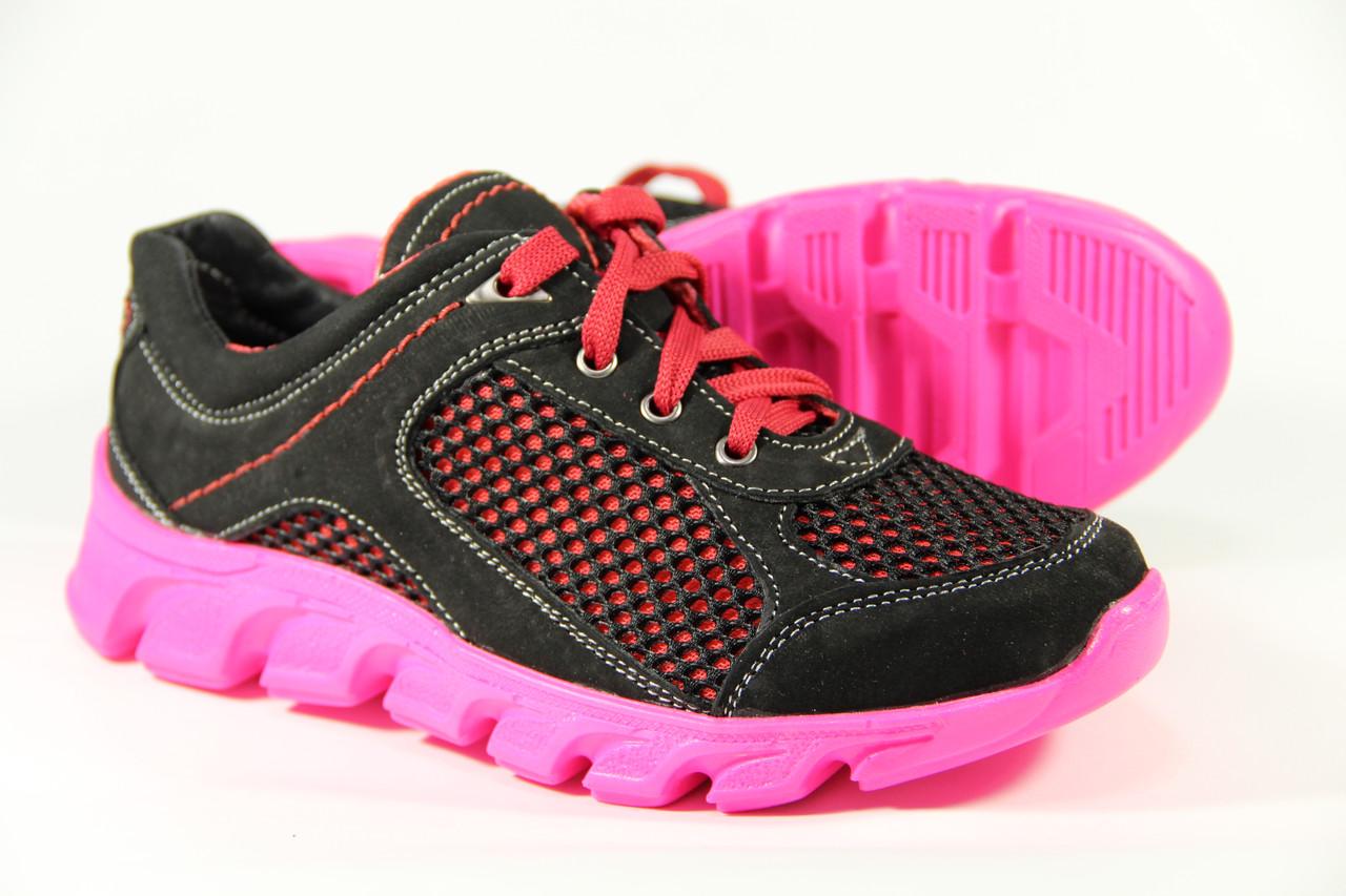 Летняя детская спортивная обувь из натуральной кожи ДФ 01 B/P