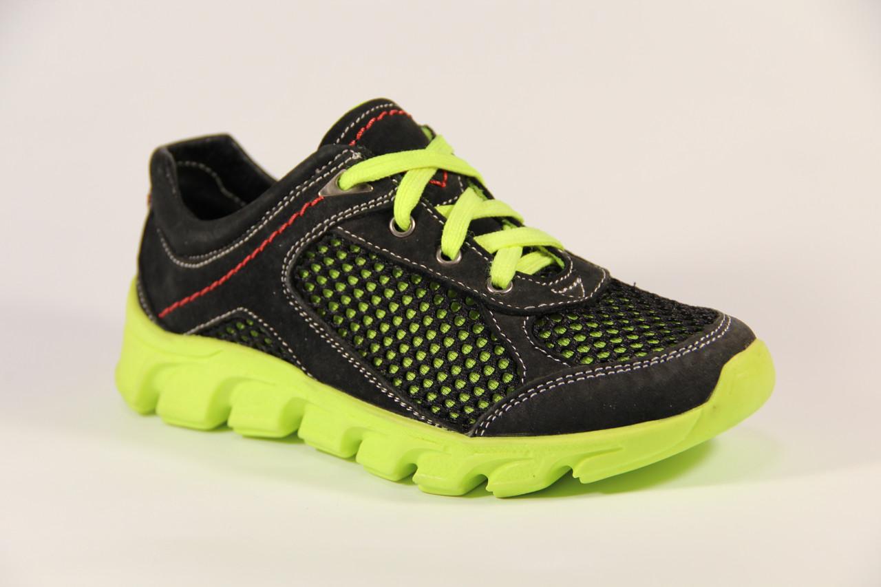 Летняя детская спортивная обувь из натуральной кожи ДФ 01 B/G