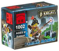 Конструктор Brick 1002 Knights Firing Range - Рыцарь с луком и мишенью,16 деталей, в собр.коробке 9,5*7*4,5см