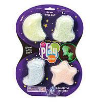 Светящийся шариковый пластилин для лепки Playfoam из 4 цветов  от Learning Resources