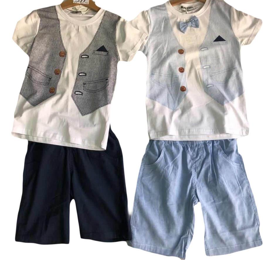 Комплект летний для мальчиков опт, Buddy Boy, размеры 3/4-7/8 лет, арт. 5599