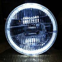 Передние фары на ВАЗ 2101 и Ниву с ангельскими глазками белого цвета №2  ., фото 1