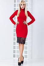 Женское  ангоровое платье с кружевом по низу (Иви mrb), фото 2