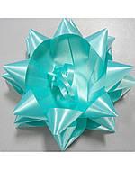 Бантик звёздочка бирюзовый, фото 1