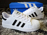 Жіночі Black White Adidas Superstar