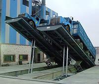 Автомобилеразгрузчик на бетонном фундаменте канального типа 18 м