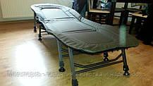 Кровать карповая M-Elektrostatyk с регулировкой (нагрузка до 120 кг) (L8), фото 3